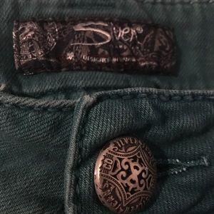 Silver Suki Skinny green jeans 👖 32 x 31